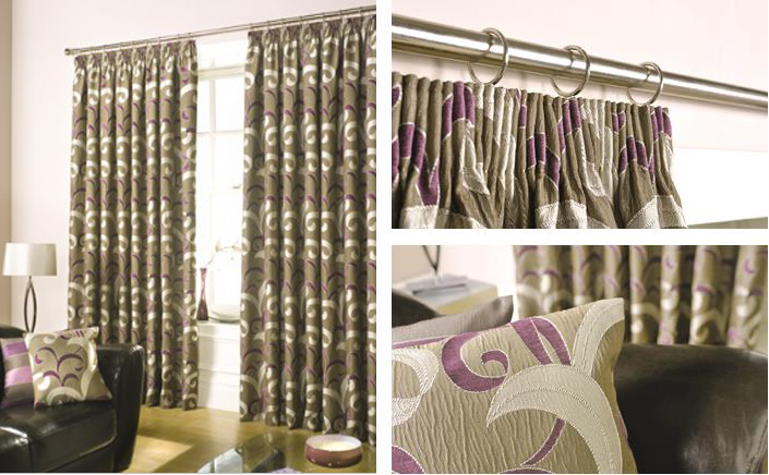 Green Curtains aubergine and green curtains : Curtains | Ashley Blinds and Curtains