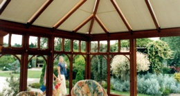 The right choice of roof and side blinds will help you make the most of your conservatory